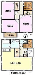 [一戸建] 埼玉県さいたま市岩槻区美園東2丁目 の賃貸【/】の間取り