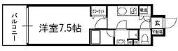 ミヤレジデンス西天満 8階1Kの間取り