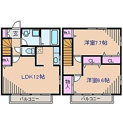 [テラスハウス] 神奈川県横浜市緑区台村町 の賃貸【/】の間取り