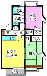 アムール8[1階]の間取り