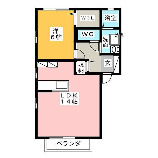 プルミエ A棟[1階]の間取り