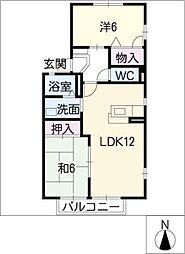 ドルフ−ハイム岡 A棟[1階]の間取り