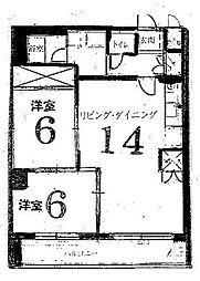 ハイムフロイデン一乗寺[C-10号室号室]の間取り