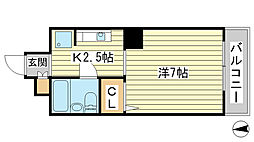 O-4マンション(学生)[703号室]の間取り