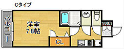 AXIS天神ノ森[3階]の間取り