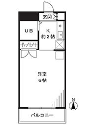 シャルム新城[406号室]の間取り