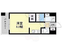福岡市地下鉄空港線 中洲川端駅 徒歩10分の賃貸マンション 2階1Kの間取り