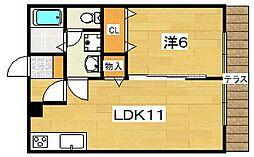 ベルプラート[1階]の間取り