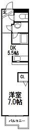 コンパス白石[2階]の間取り