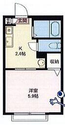 ハートハイム[2階]の間取り