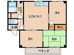 クオリティハイツ福島A[2階]の間取り