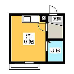朝日プラザ浜松元浜パサージュ[3階]の間取り