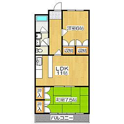 ラベンダー90[2階]の間取り