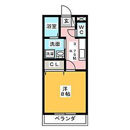 TATSUMI GARDEN[1階]の間取り