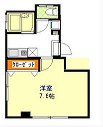 スカイレジデンス上野[4階]の間取り