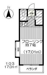 東京都府中市幸町1丁目の賃貸アパートの間取り