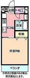 ブリエアベニール[1階]の間取り