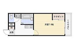 大阪府大阪市平野区加美東1丁目の賃貸アパートの間取り