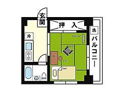 家具・家電付き コーポM[3階]の間取り