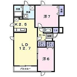 サンパティーク北光[2階]の間取り