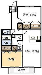 プランドールA棟[105号室]の間取り