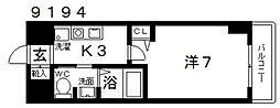 casa vera luce(カサベラルーチェ)[606号室号室]の間取り