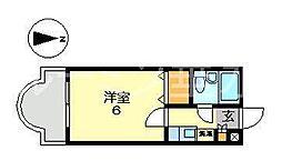リバーサイド山本[3階]の間取り