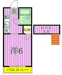 千葉県松戸市東平賀の賃貸アパートの間取り