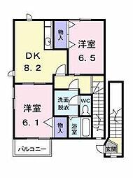 アルトピアーノA・B[B-201 号室号室]の間取り
