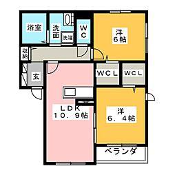(仮)藤和ハイツVII[1階]の間取り