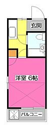 WJ・N-3ハイツ[2階]の間取り