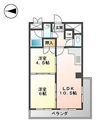 メゾンエトワール[6階]の間取り
