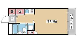兵庫県神戸市北区鈴蘭台東町5丁目の賃貸アパートの間取り