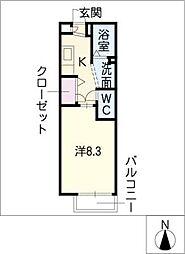 フレグランス新掘[1階]の間取り