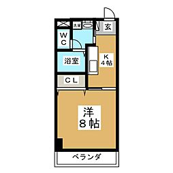 第3ジーオンビル[4階]の間取り