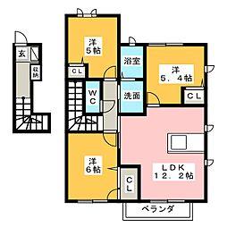 サンハイム北島 B[2階]の間取り
