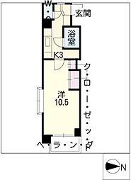 パフォス草薙[2階]の間取り