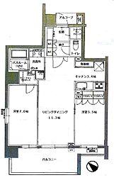 グローベル ザ・フォート シティパークス[8階]の間取り