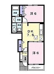 アガパンサスI[1階]の間取り