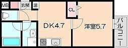 ラポール末広19[4階]の間取り