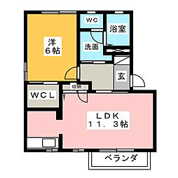 カーサ21 A棟[2階]の間取り