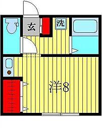 ビシーナコートGOKO[203号室]の間取り