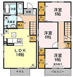 [一戸建] 岡山県倉敷市四十瀬丁目なし の賃貸【/】の間取り