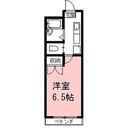 安田学研会館 中棟[103号室]の間取り