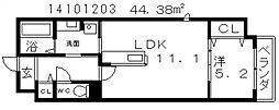 ブライトアビコ[2階]の間取り