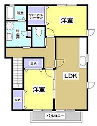 キートスIII[2階]の間取り