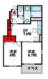 カモミールD[1階]の間取り
