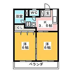 ヴィラ30[2階]の間取り