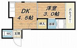 桃谷マンション[3階]の間取り