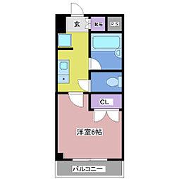 エトワール西神戸[102号室]の間取り